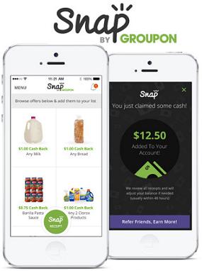Snap Cash Back on Groceries