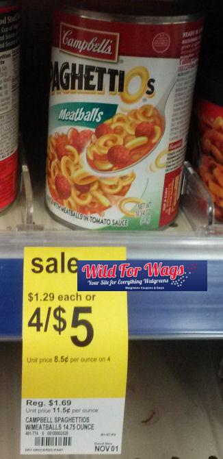 Grab SpaghettiO's for $1.12 Each!