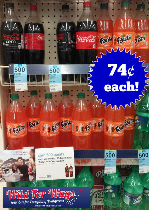 1.25 L Cokes Just 74¢ Each!