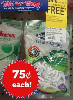 Dentek Floss Picks 75¢ Each & Other Deals!