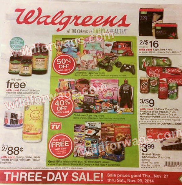 Walgreens Black Friday Ad 2014 pg 1