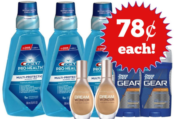 Beauty & Personal Care Points Booster Scenario -- 78¢ Per Item!