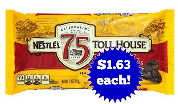 New Coupon for Nestle Tollhouse Morsels -- $1.63 Next Week!