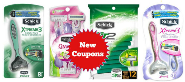 New Schick Disposable Razor Coupons!