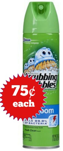 Scrubbing Bubbles 75¢ Each Sunday Only!