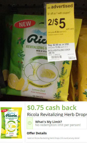Ricola Revitalizing Drops Just 75¢ Each!