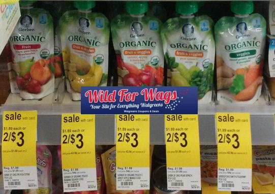 Gerber Organic Foods $1.20 Each!
