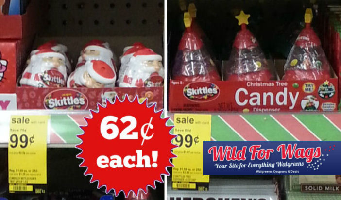 Skittles Holiday Candy Dispensers 62¢ Each!