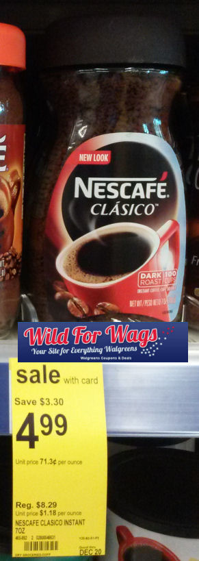 Nestle Nescafé Clasico Just $3.49!
