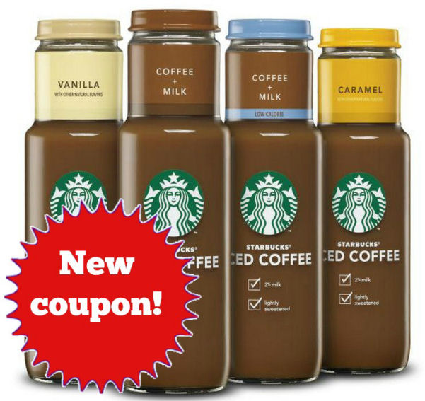 New Starbucks Iced Coffee Coupon!
