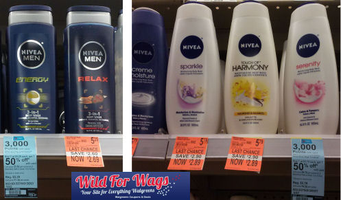 Nivea Body Washes As Low As 52¢