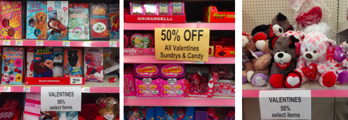 Valentine's Day Clearance at Walgreens
