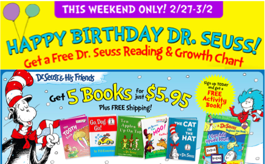 Dr. Seuss Birthday deal