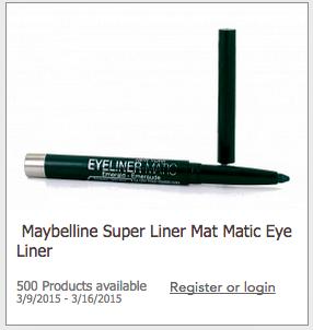Free Maybelline Eyeliner