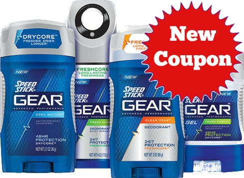 New Speed Stick Gear Coupon!