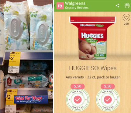 50¢ Huggies Wipes Thru Today!