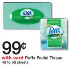 Puffs Just 74¢ Each!