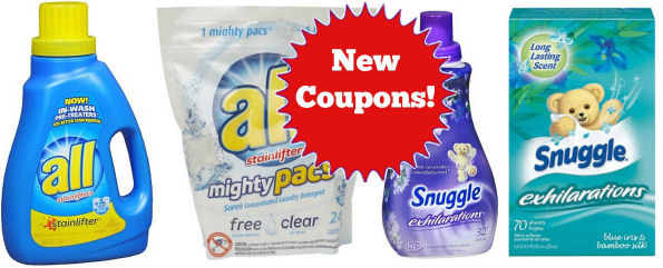 All Detergent & Snuggle Coupons