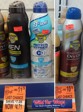 Banana Boat Clearance deals