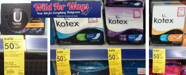 U By Kotex Stacked Deals + Clearance As Low As 94¢!