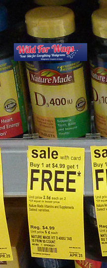 Nature Made Vitamin D As Low As $1.49!