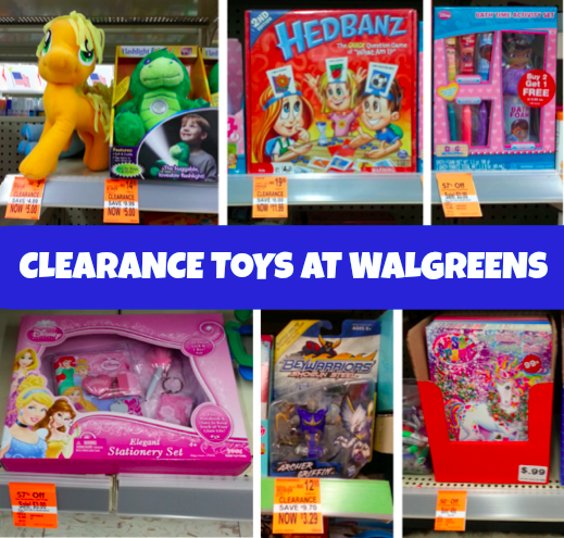 clearance toys at Walgreens