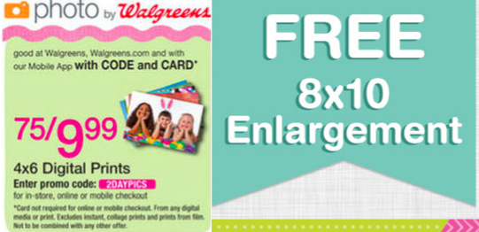 walgreens photo coupon codes deals