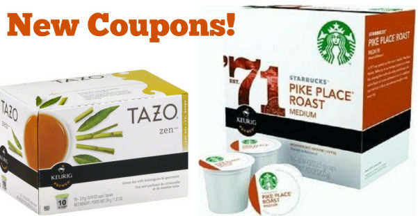 Starbucks & Tazo K Cups Coupons