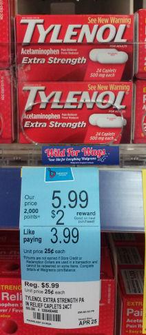 Save 46% on Tylenol Extra Strength!