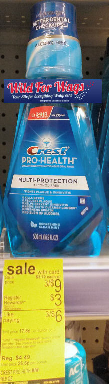 New Coupon for 90¢ Crest Mouthwash!