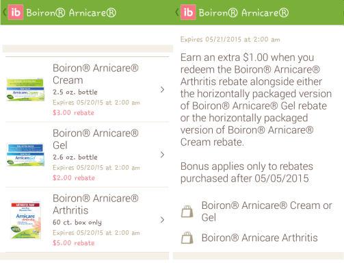 Boiron Arnicare Ibotta offers