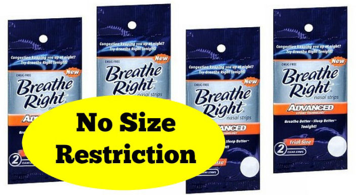 Breathe Right Coupon - NO SIZE RESTRICTION!