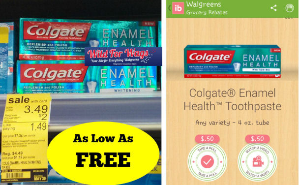 Colgate Enamel Health As Low As Free!