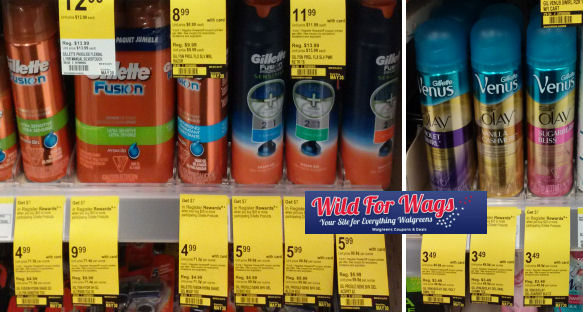 Gillette Products As Low As 87¢ Each!
