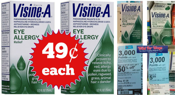 Visine Allergy Just 49¢ Each!
