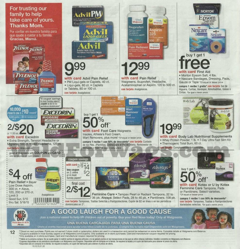 Walgreens sale coupon matchups
