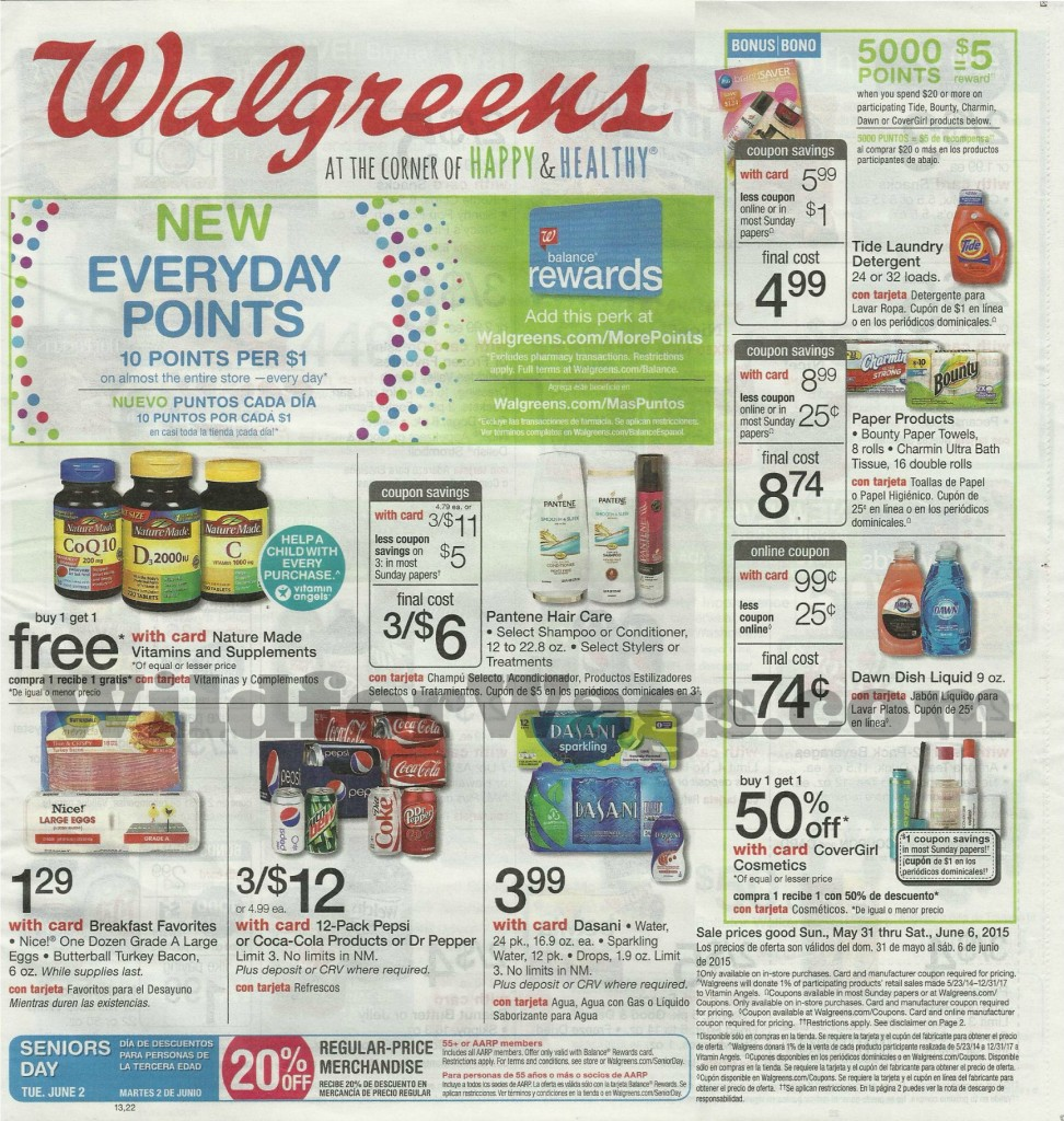 Walgreens Ad 5-31-15 pg1