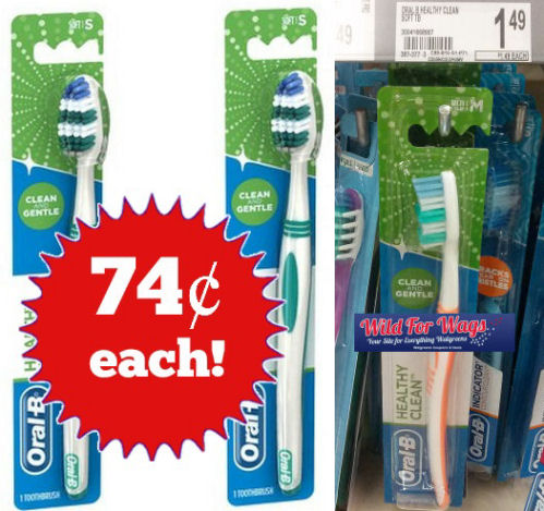 oral-b healthy clean toothbrush deal