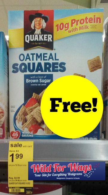 FREE Quaker Oatmeal Squares!