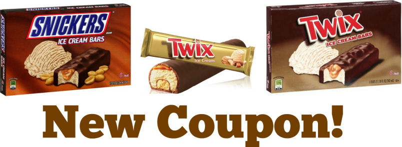 snickers twix ice cream bar coupon