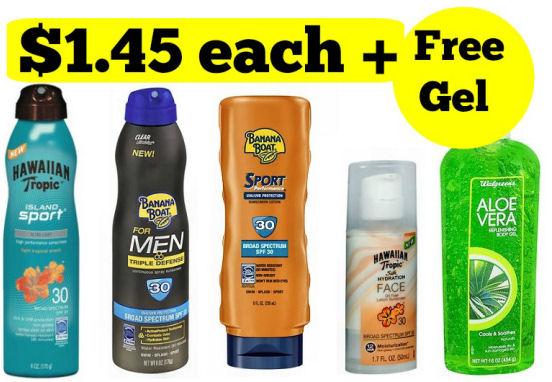 Sun Care Booster Scenario - $1.45 Each + Free Gel!