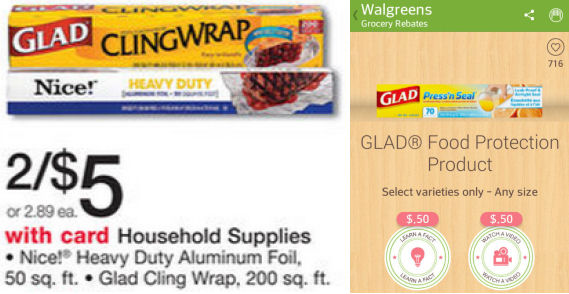 Glad Cling Wrap Just 87¢!