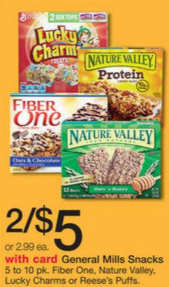 Nature Valley & Fiber One Bars Just $1.23 Per Box!
