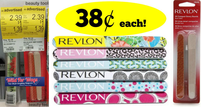 Revlon Nail Files & Emery Boards Just 38¢!
