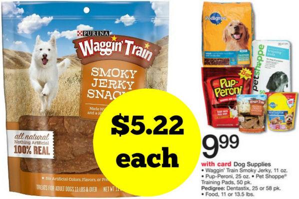 Save Over 50% on Waggin Train Smoky Jerky Dog Treats