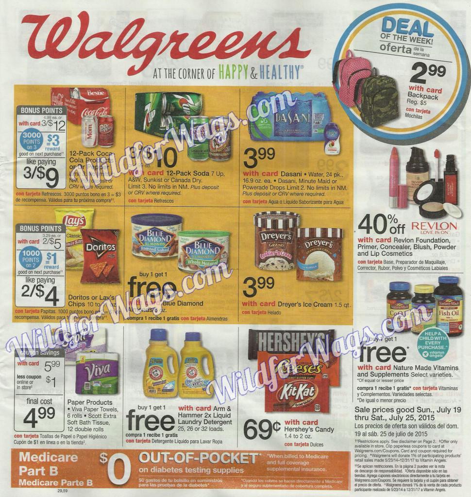 Walgreens Weekly Ad 7-19-15 pg1