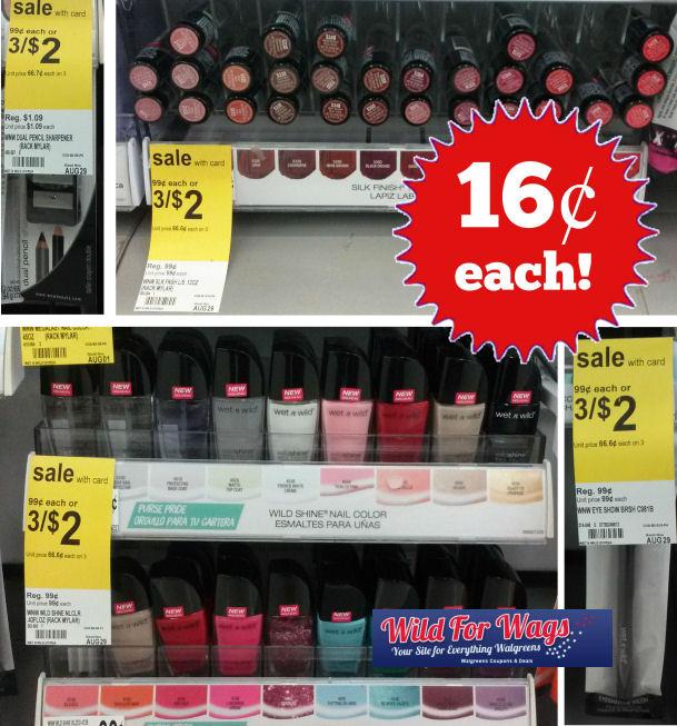 Wet 'N Wild Cosmetics Just 16¢ Each!