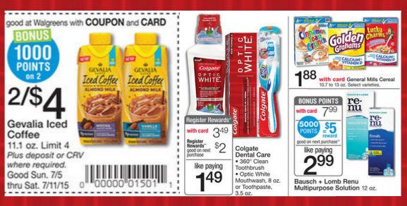 Walgreens Weekly Ad & Coupons - 7/5/15