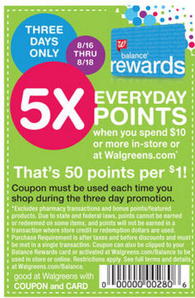 5x Bonus Points