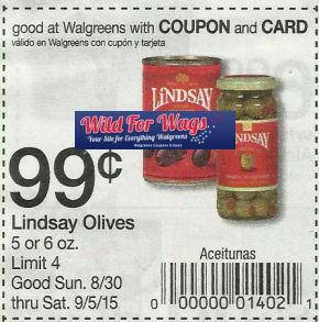 Lindsay Olives Just 49¢ Next Week!